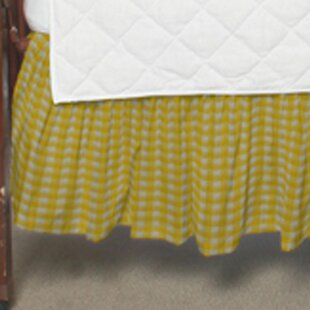 Compare Gingham Checks Fabric Crib Dust Ruffle By Patch Magic