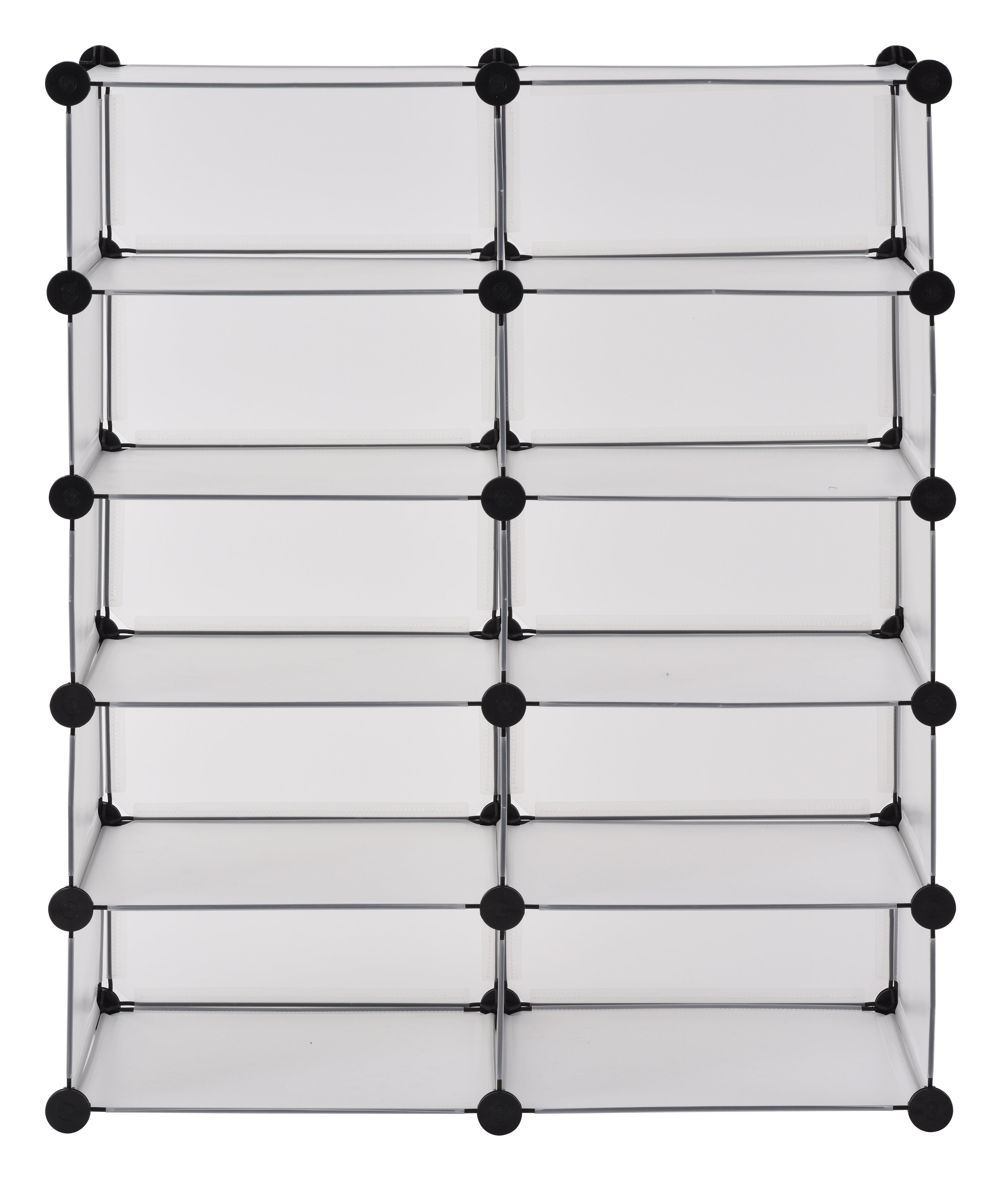 Rebrilliant Modular Cube Storage 20 Pair Stackable Shoe Rack   Wayfair