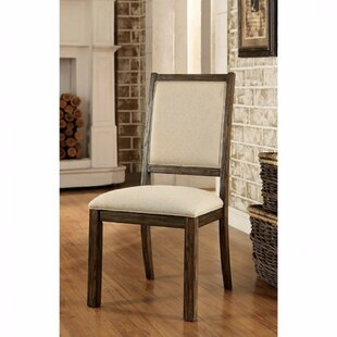 Aragam Industrial Upholstered Dining Chair (Set of 2) by One Allium Way