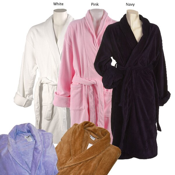 lcm home fashions inc womenu0027s cotton terrycloth bath robe u0026 reviews wayfair - Terry Cloth Robe