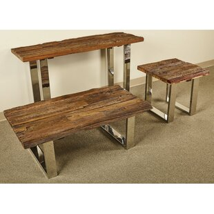 Millwood Pines Walden 3 Piece Coffee Table Set