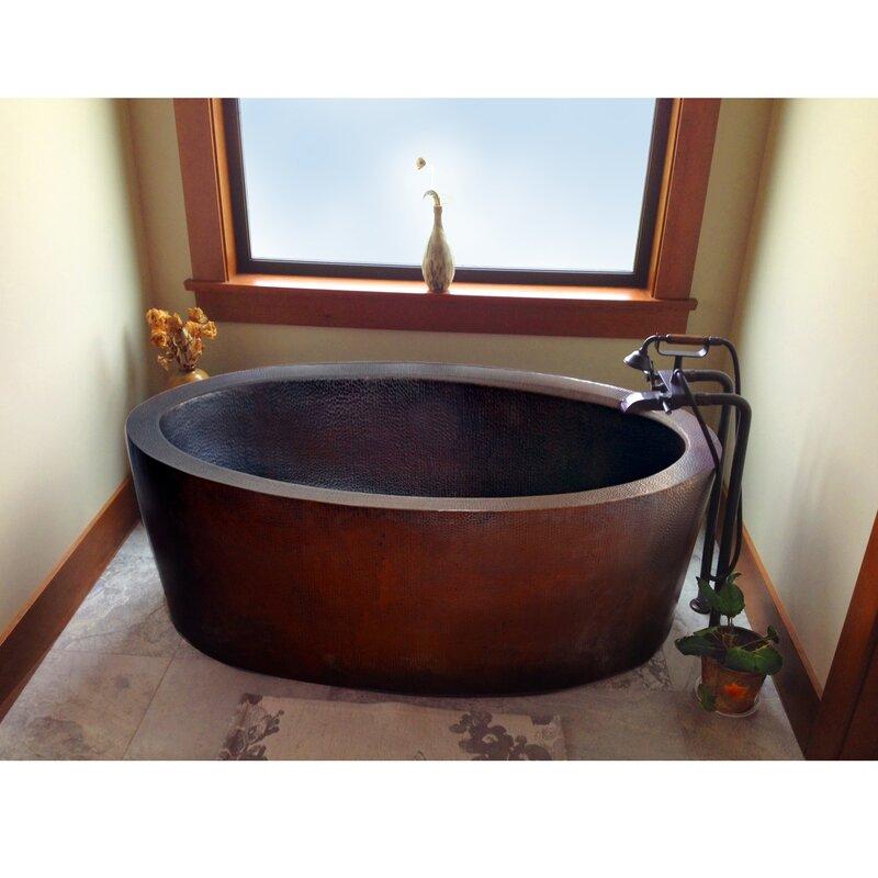 """Dakota 64"""" x 36"""" Freestanding Soaking Bathtub"""
