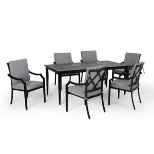 Sweet Outdoor 6 Piece Dining Set with Cushions