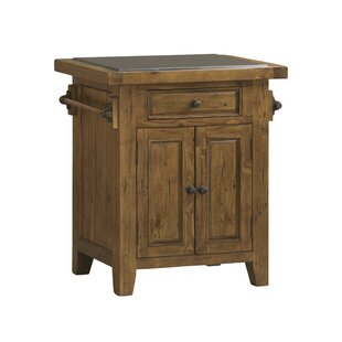 McAlester Kitchen Island with Granite Top Loon Peak