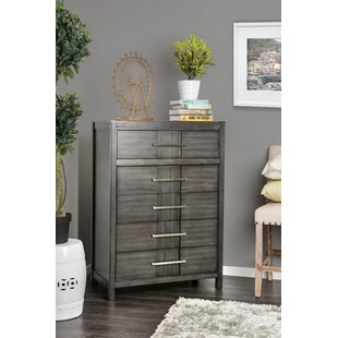 Alona Transitional 5 Drawer Chest