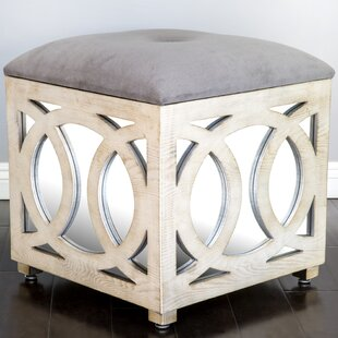 Tyra Mirrored Storage Ottoman by Statements by J