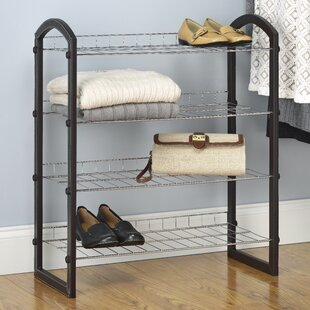 Bargain 4-Tier 12 Pair Shoe Rack By Whitmor, Inc