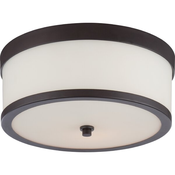 """Shop Curtin 2 - Light 13.63"""" Simple Drum Flush Mount from All Modern on Openhaus"""