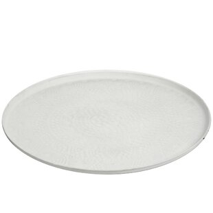 Round Flower Metal Mat Accent Tray By Symple Stuff