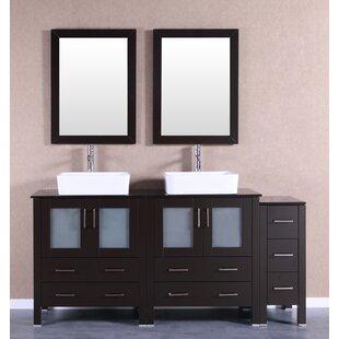Dinara 71 Double Bathroom Vanity Set with Mirror by Bosconi