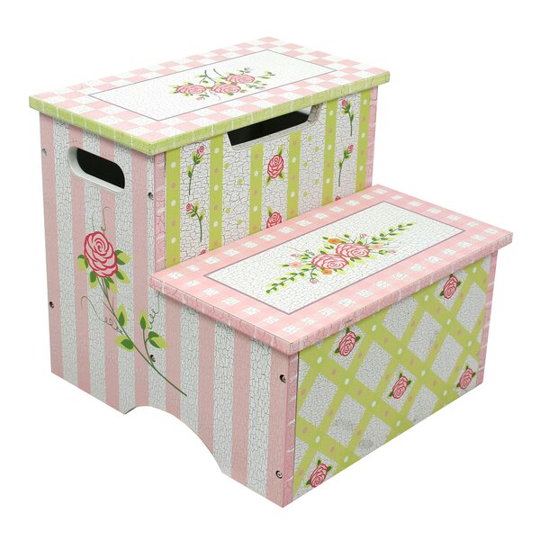 Fantasy Fields Crackled Rose Step Stool with Storage u0026 Reviews | Wayfair  sc 1 st  Wayfair & Fantasy Fields Crackled Rose Step Stool with Storage u0026 Reviews ... islam-shia.org