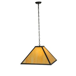 Gustav Mission 1-Light Square/Rectangle Pendant by Meyda Tiffany