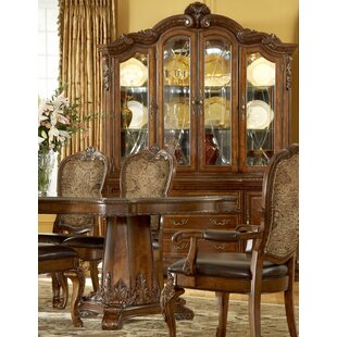 Brussels Lighted China Cabinet by Astoria Grand