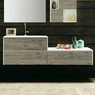 Broadmoor 56 Wall-Mounted Single Bathroom Vanity Set ByLatitude Run