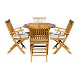 Everleigh 5 Piece Teak Sunbrella Dining Set with Cushions