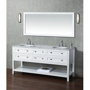 Great Price Whaley 72 Double Bathroom Vanity Set with Mirror ByBrayden Studio