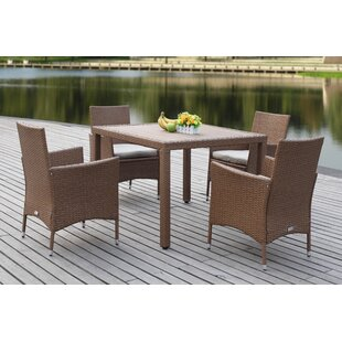 Landrum 4 Seater Dining Set With Upholstery By Sol 72 Outdoor