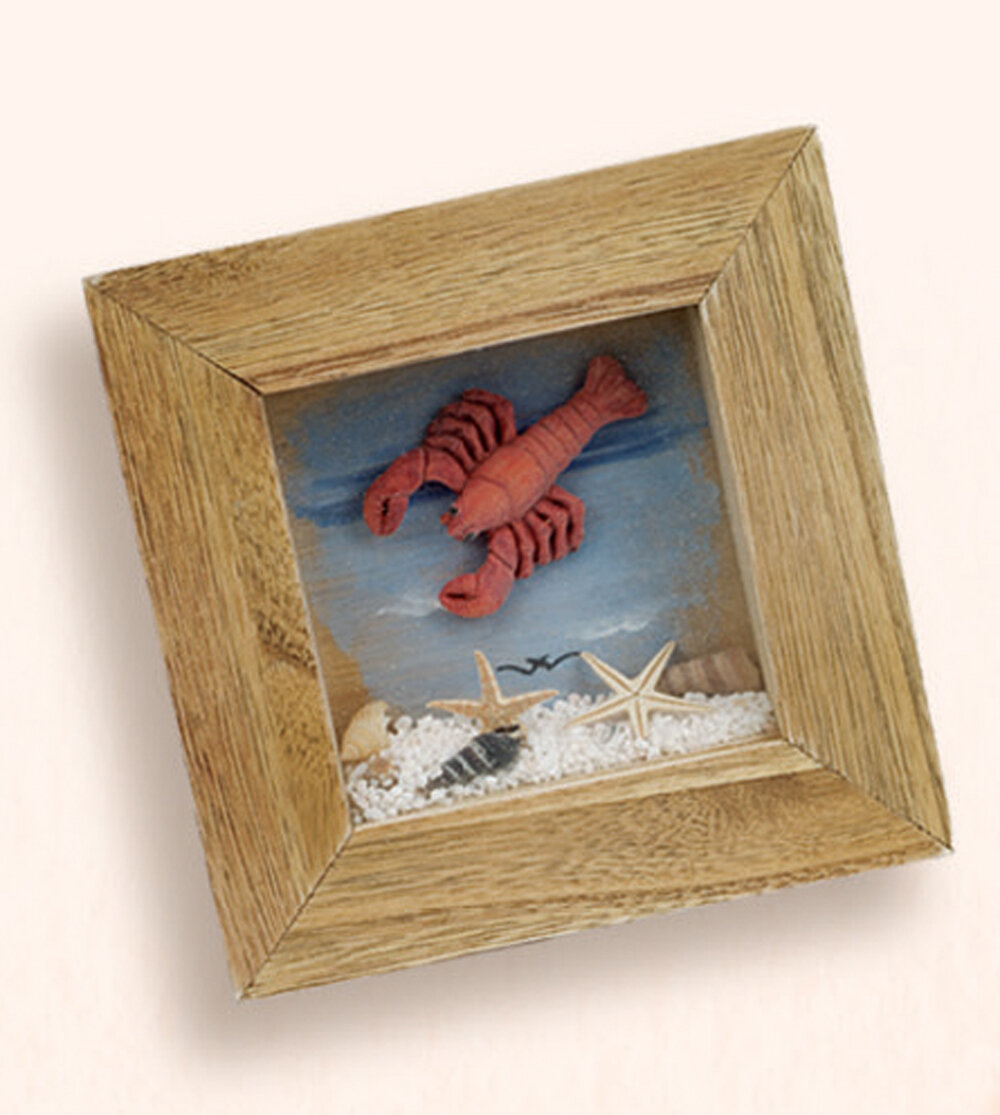 Breakwater Bay Maria Lobster 3d Frame Sculpture Wayfair