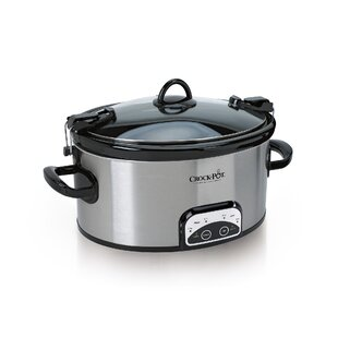 6 Qt. Programmable Cook and Carry Oval Slow Cooker (Set of 2)