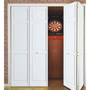 Traditional 6 Panel Wood Bi-Fold Door & Interior Bifold Doors | Wayfair