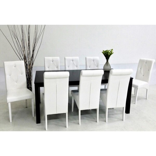 Finest 9 Piece White Dining Set - Dining room ideas ID31