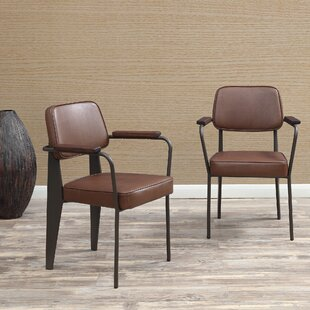Compare prices Barragan Upholstered Dining Chair (Set of 2) by Wrought Studio Reviews (2019) & Buyer's Guide