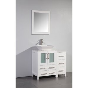 megaira 36 single bathroom vanity set with mirror