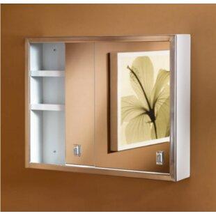 Reviews Contempora 23.8 x 19.2 Surface Mount Medicine Cabinet By Jensen