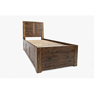 Athol Solid Wood Storage Platform Bed