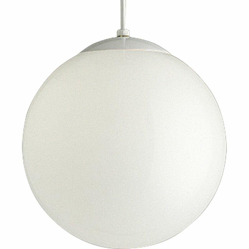 "Turn on the Brights  Bylar 1-Light Globe Pendant Size: 12"" H x 12"" W x 12"" D"