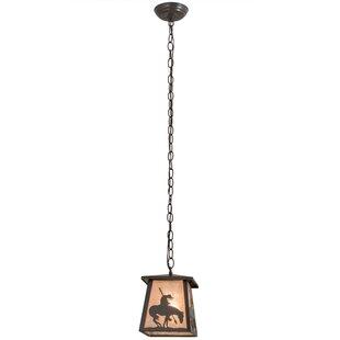 Trail's End Lantern 1-Light Pendant by Meyda Tiffany