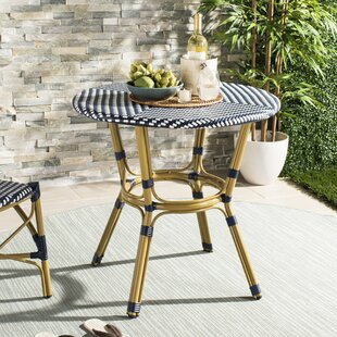 WickerRattan Bistro Table by Bungalow Rose
