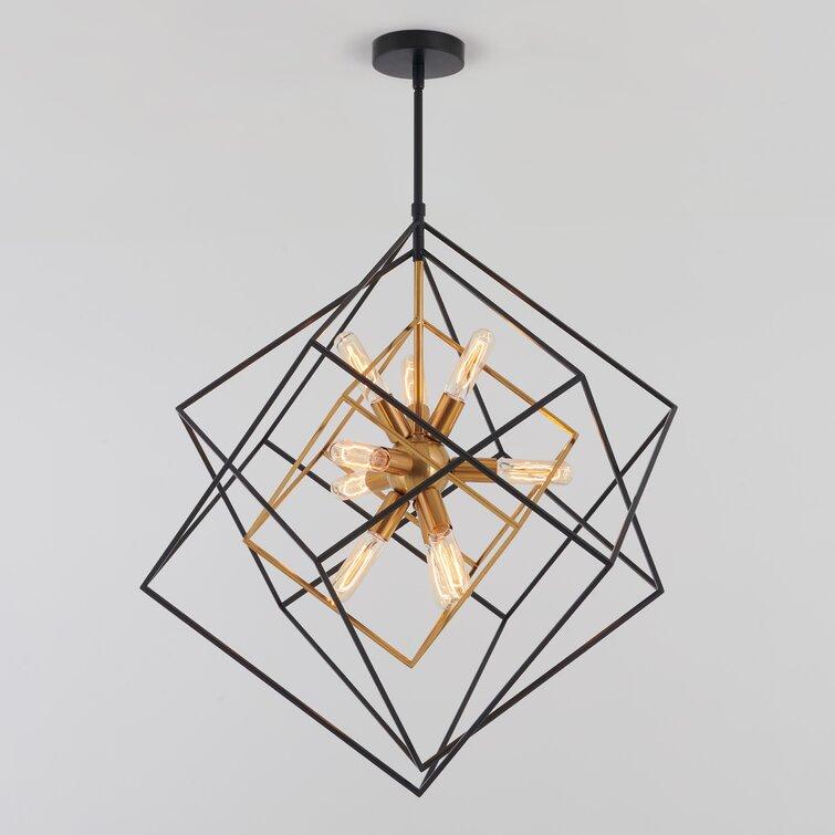 Alson 9 - Light Unique / Statement Geometric Chandelier