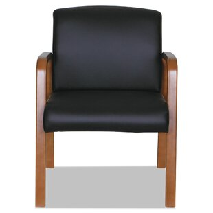 Madonna Reception Leather Lounge Chair by Symple Stuff