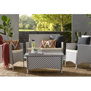 Mckeever 4 Piece Sofa Seating Group with Cushions