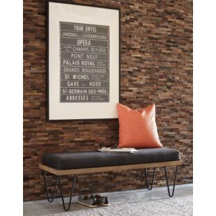 Purchase Weishaar Leather Bench ByGeorge Oliver