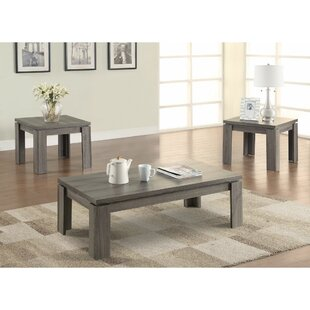 Enormous Weathered 3 Piece Coffee Table Set Highland Dunes