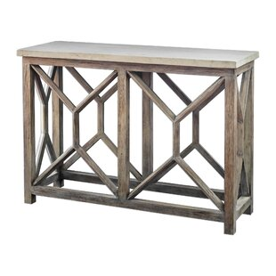 Review Niemann Stone Console Table By Brayden Studio