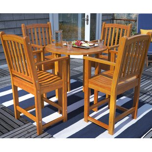 Breakwater Bay Sabbattus 5 Piece Bar Height Dining Set