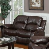 Corvin 60 Wide Faux Leather Pillow Top Arm Reclining Loveseat by Red Barrel Studio®