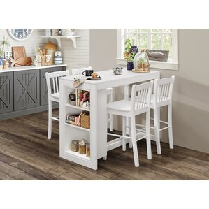 Amandes Counter Height Dining Table With Shelving