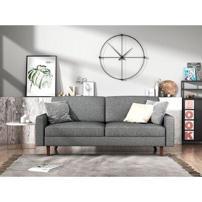 Turn on the Brights Glennon Sofa Upholstery: Light Gray