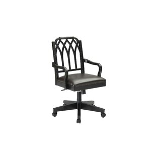Otwell Filigree Mid-Back Bankers Chair by DarHome Co 2019 Coupon
