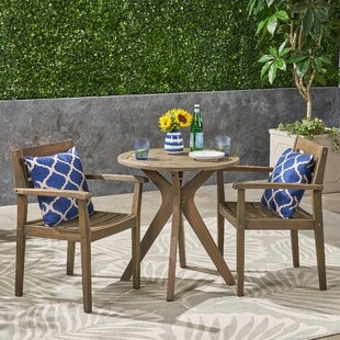 Sir Outdoor Acacia Wood 3 Piece Bistro Set