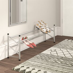 Chrome 2-Tier Extendable 16 Pair Shoe Rack By Wayfair Basics