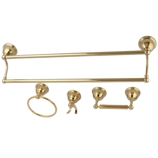 Kingston Brass Restoration 4 Piece Bathroom Hardware Set