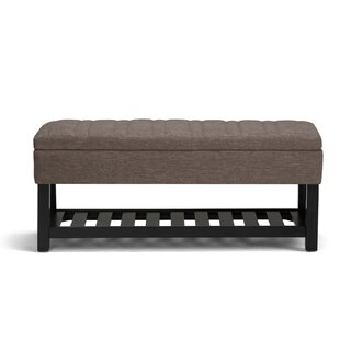 Simpli Home Memphis Wood Storage Bench