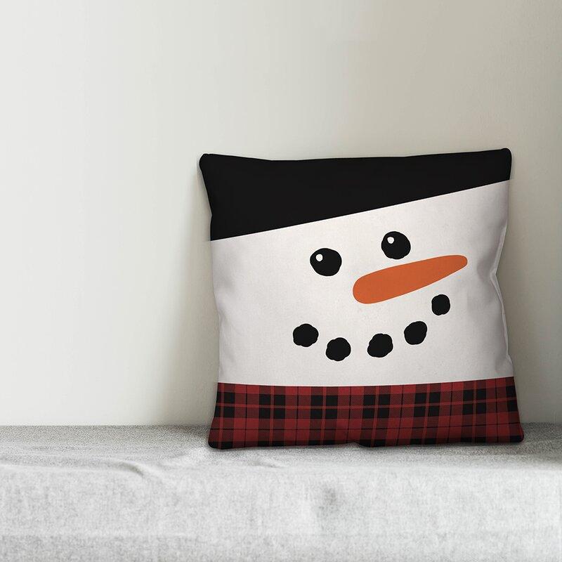 The Holiday Aisle Sevenoaks Happy Snowman Throw Pillow Reviews Wayfair