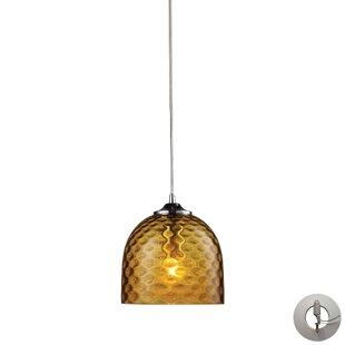 Everson 1-Light Bell Pendant by Brayden Studio