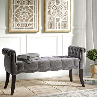 Campbell Traditional Roll Arm Upholstered Bench by Ophelia & Co. Read Reviews
